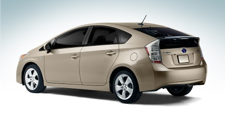 Prius Five shown in Sandy Beach Metallic